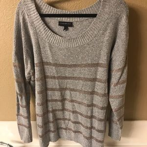 Gray & Rose Gold Sweater